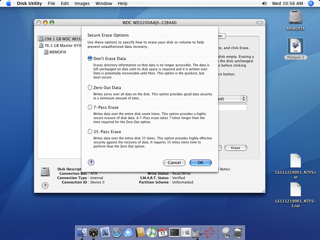 Secure Erase Options on the MAC