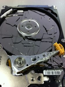 Hard Drive data recovery wont be possible on this aptop hard drive with broken glass platters